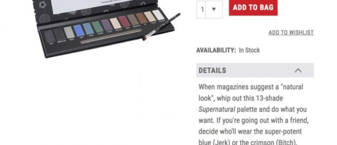Supernatural Eyeshadow Makeup Palette _ Hot Topic