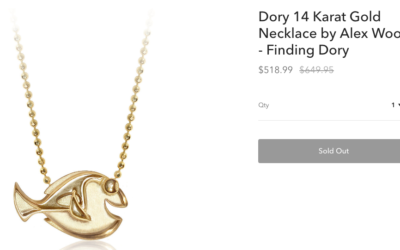 shopDisney - I created a new voice for high-end items to appeal to millennials. (They liked this $650 necklace!)