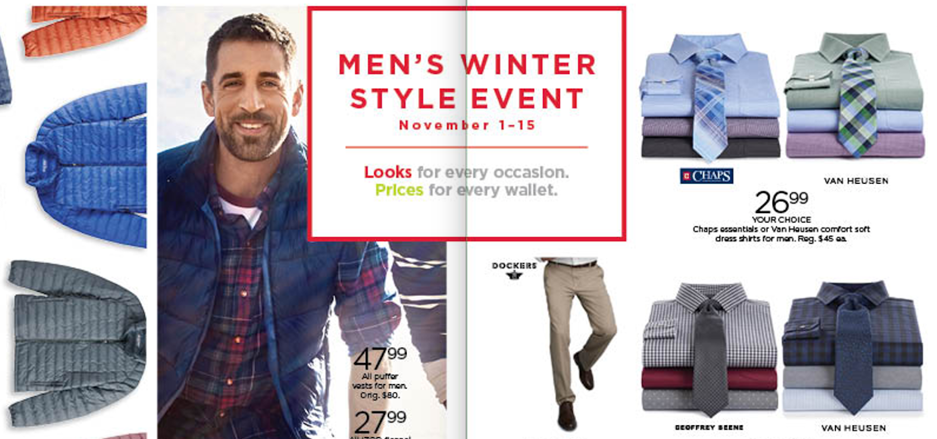 Kohl's - I wrote this value-focused headline in a catalog next to NFL quarterback Aaron Rodgers.