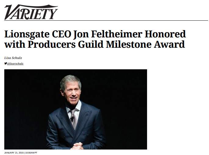 Variety - I interviewed high-profile entertainment industry professionals such as the Lionsgate CEO.