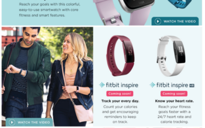 Fitbit - I wrote family-focused headlines and descriptions for this Fitbit spotlight on the Kohl's website.