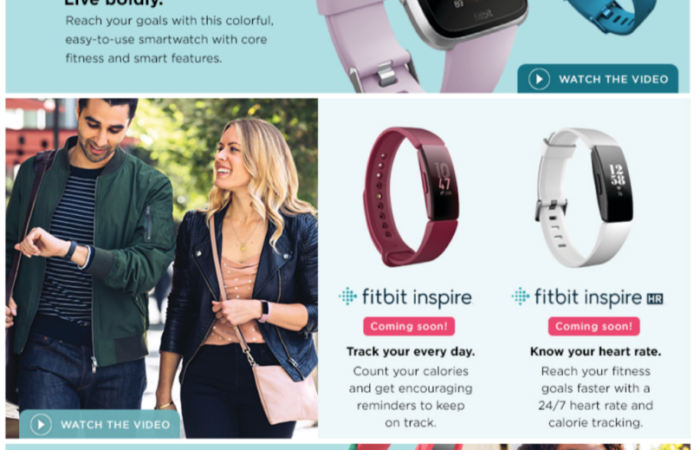 Fitbit product spotlight for Kohl's