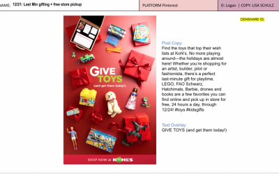 Pinterest - I created urgency around holiday shopping while sparking gift ideas with our biggest toy brands.